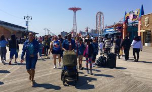 The Landmarks Preservation Commission has designated the Coney Island Boardwalk as a scenic landmark. Eagle photo by Lore Croghan
