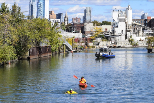 Gowanus residents are frustrated that the Department of City Planning hasn't taken much of their input into account when drafting a rezoning proposal for the neighborhood. Shown: the Gowanus Canal. Eagle file photo by Rob Abruzzese