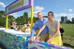 Alex's Lemonade Stand Foundation's Liz and Jay Scott. Photo by Larry French/Invision for LEGO/AP Images