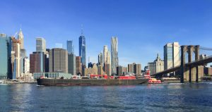 Lower Manhattan looks especially great in the early morning from Pier 1 in Brooklyn Bridge Park. Eagle photos by Lore Croghan
