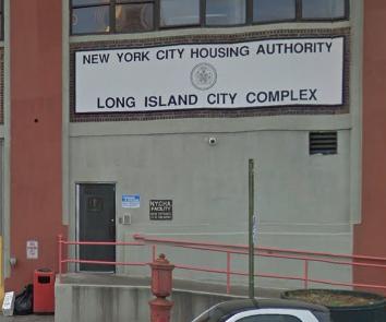 The seized Long Island City NYCHA warehouse. Image © 2018 Google Maps photo