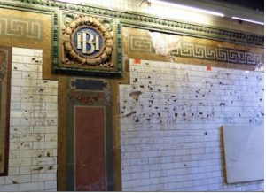 This photo, showing chipped tiles and a crumbling portion of a wall at the 4 and 5 lines' Borough Hall subway station, was taken in 2015, three years before the station's recent ceiling collapse. Eagle file photo by Mary Frost
