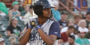 Cyclones right fielder Jose Miguel Medina blasted two homers Wednesday night to power Brooklyn to an 11-5 rout of Tri-City in Troy, N.Y. Photo courtesy of Brooklyn Cyclones