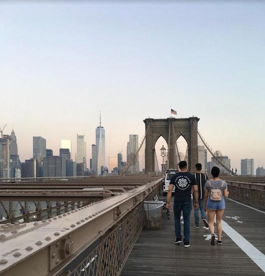Come Walk Across The Brooklyn Bridge At Sunrise