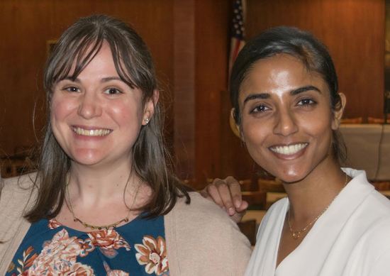 The Volunteer Lawyers Project will host a CLE that encourages attorneys to take on child immigration cases pro bono. Pictured are Sarah Burrows, pro bono manager at VLP; and Kaavya Viswanathan, who will present the program later this month. Eagle file photo by Rob Abruzzese
