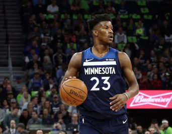 Jimmy Butler wants out of Minnesota and may wind up in Brooklyn if Nets general manager Sean Marks is able to pull of a sign-and-trade deal for the talented shooting guard. AP Photo by Jim Mone