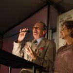Alexander Bernstein and Nina Bernstein Simmons accept the DeWitt Clinton Award for Excellence. Eagle photos by Paul Frangipane