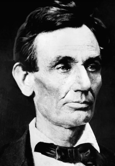 President Abraham Lincoln is shown in this November 1860 photograph by Alex Hessler, shortly after he won the election, in Chicago, Illinois. AP Photo/Alex Hessler