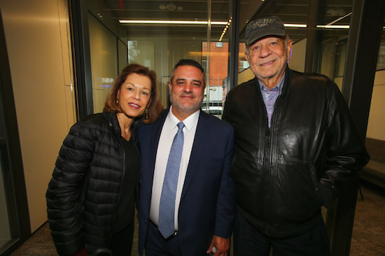From left: North Brooklyn Chamber of Commerce Chairwoman Elaine Brodsky, Chase Bank executive director Bill Berdini and North Brooklyn Chamber board member Norm Brodsky. Eagle photos by Andy Katz