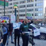 Members of Riders Alliance rally in support of congestion pricing. Photos courtesy of Riders Alliance