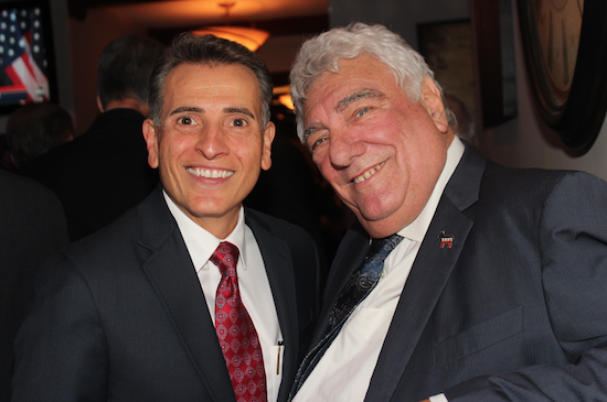 Joseph R. Vasile (left) was installed as the new president of the Bay Ridge Lawyers Association by Hon. Frank Seddio (right) during a ceremony in Dyker Heights. Eagle photos by Mario Belluomo