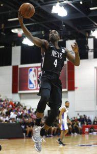 Brooklyn Nets wing Theo Pinson. AP Photo/John Locher