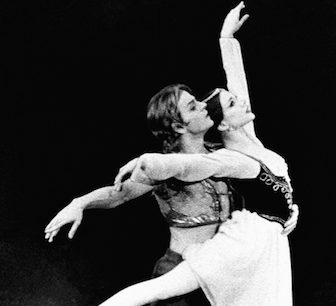 "Gelsey Kirkland, whose dance school in DUMBO is going to be demolished, is shown here dancing the pas de deux from ""Le Corsaire"" with Mikhail Baryshnikov in 1975. AP File Photo/Dina Makarova"