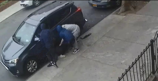 Surveillance photos of the suspects. Photos courtesy of the NYPD