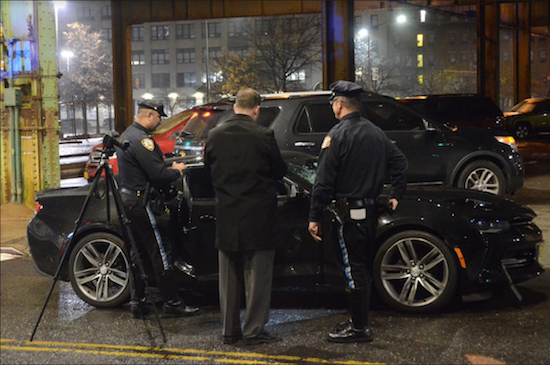 Cops on the scene. Photo by Mark Mellone