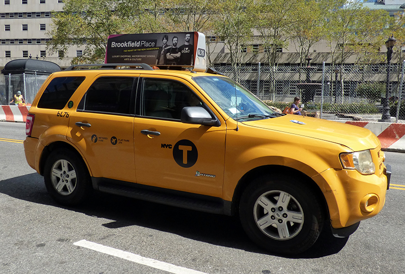 Now Brooklyn and Queens riders can snag a yellow cab ride into Manhattan at rush hour for half price. Eagle photo by Mary Frost