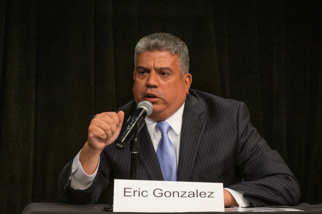 Brooklyn District Attorney Eric Gonzalez announced the creation of a dedicated Hate Crimes Bureau on Tuesday in a response to the growing number of hate crimes in the borough over the past two years. Eagle file photo by Rob Abruzzese