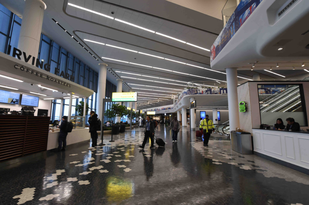 A brand new terminal B opened at LaGuardia, signaling things to come as the antiquated airport goes through a modernization transformation. Eagle photo by Todd Maisel