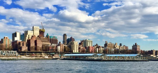 Brooklyn Heights spreads out in a panorama above Brooklyn Bridge Park. Eagle photo by Lore Croghan