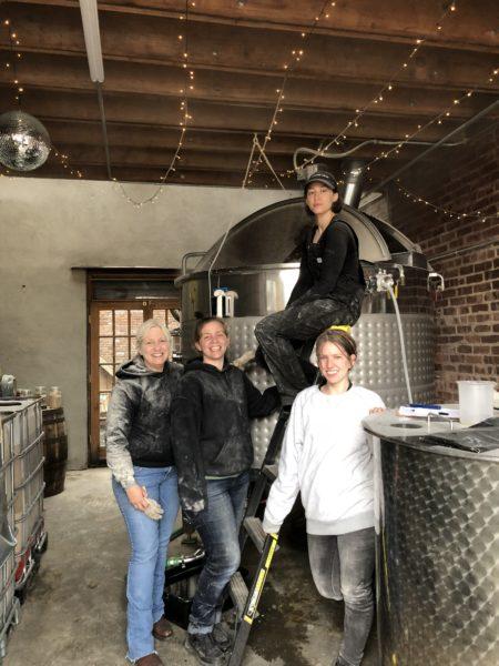 The women behind Widow Jane. Left to right: Lisa, Jillian, Sienna and Michele Clarke. Photo courtesy of Widow Jane Distillery