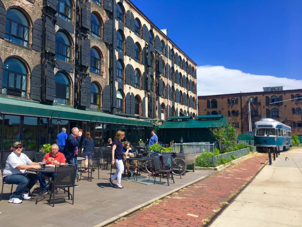 Fairway Market is located in the picturesque Red Hook Stores. Eagle photo by Lore Croghan
