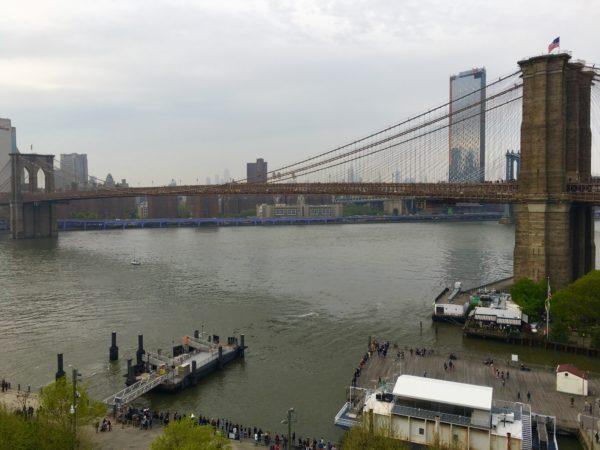 Brooklyn Bridge is the ultimate shoreline icon. Eagle photo by Lore Croghan