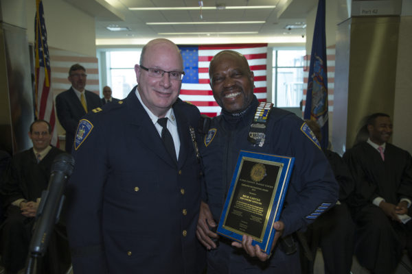 Captain John Posillipo after presenting an award to NYS Officer Rick Carter. Eagle photo by Andy Katz