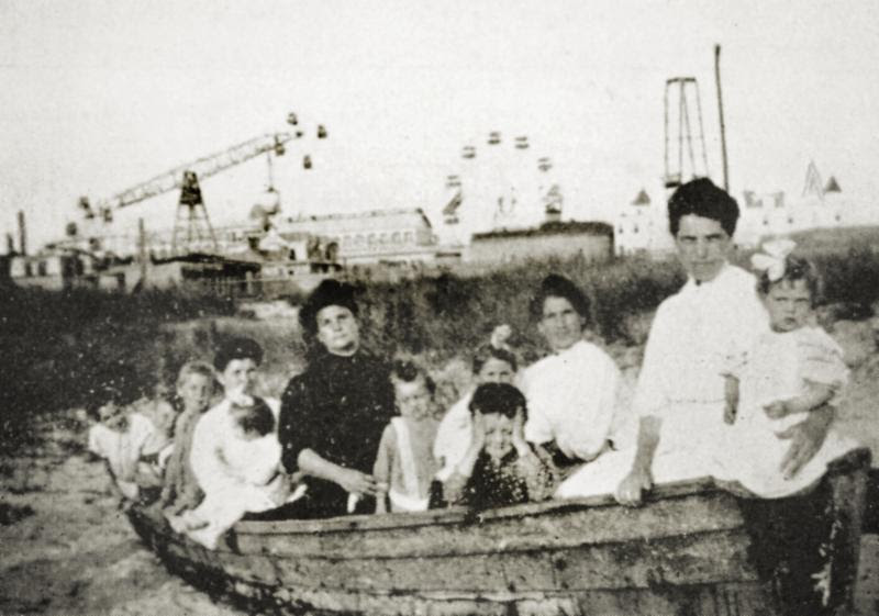 An immigrant family in Coney Island. Photo courtesy of the Coney Island History Project