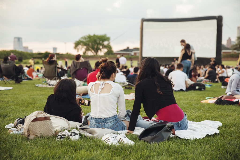 An outdoor film is shown at Governors Island. Photo by Mettie Ostrowski