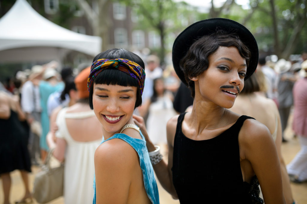 Two attendees of a past festival show off their outfits. Photo courtesy of The Jazz Age Lawn Party.