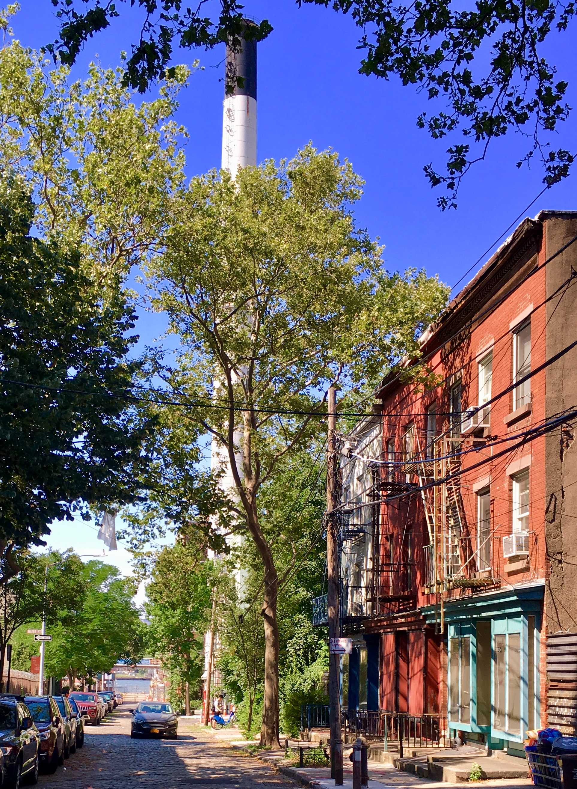These Hudson Avenue rowhouses were built in 1817. Eagle photo by Lore Croghan