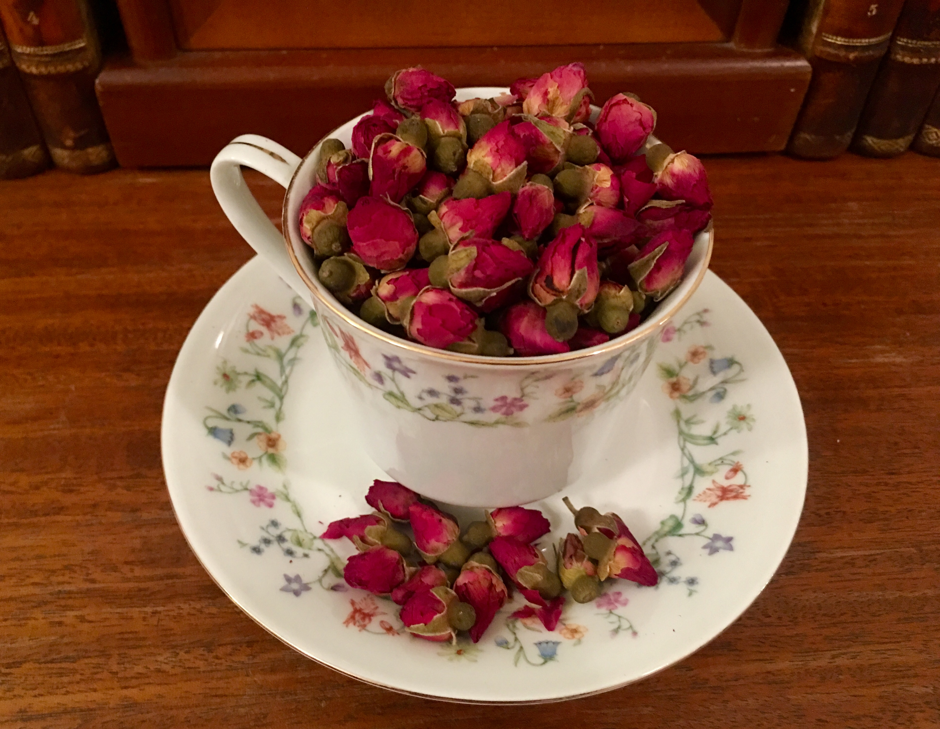 You can buy rose petals at Ten Ren if you want to drink tea with no caffeine. Eagle photo by Lore Croghan