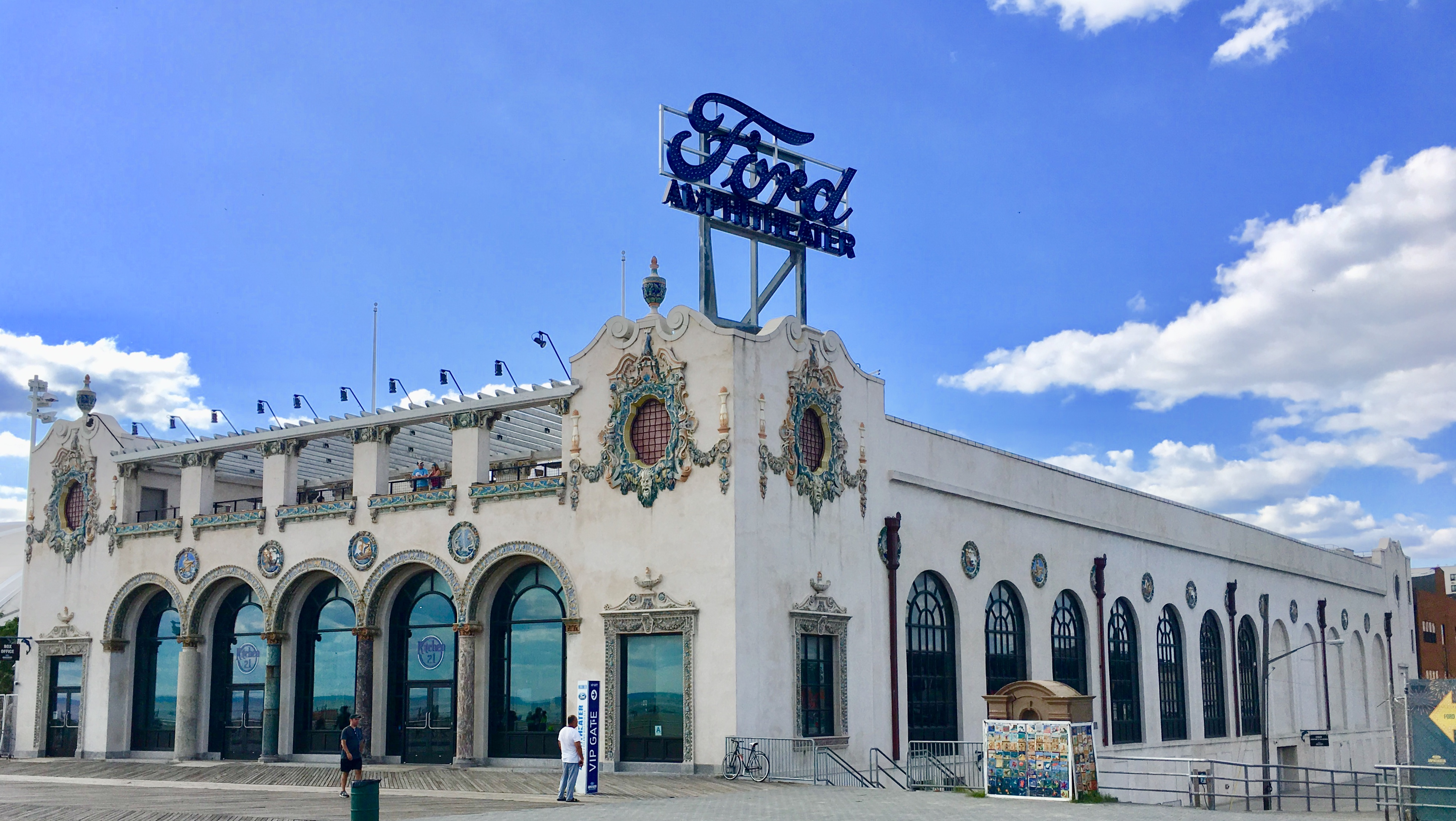 The landmarked former Childs Restaurant is now part of Ford Amphitheater. Eagle photo by Lore Croghan
