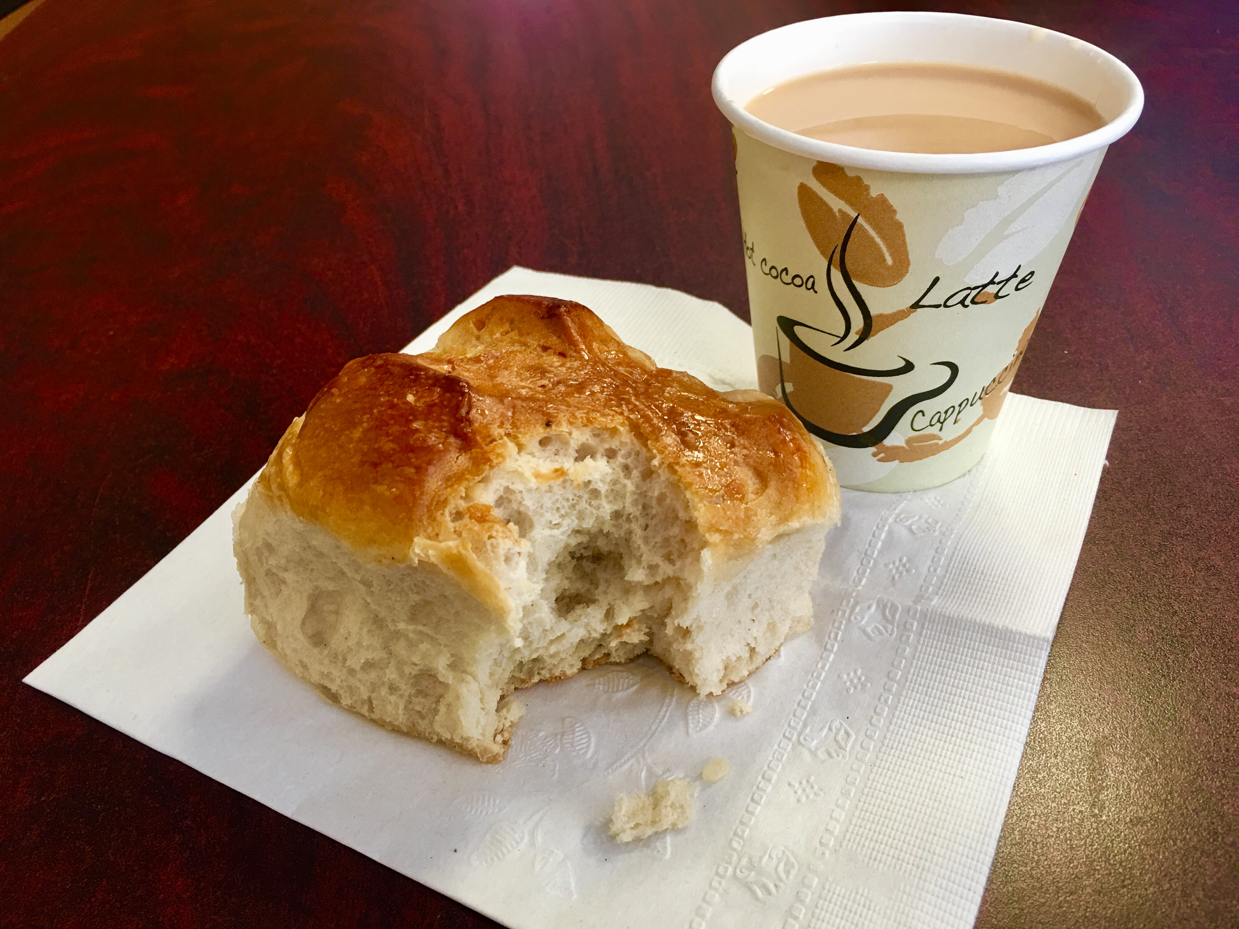 How about a coconut bun and a cup of tea at Errol's Caribbean Delights? Eagle photo by Lore Croghan