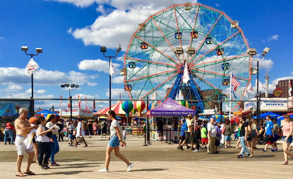 Coney Island's amusement district. Photo: Lore Croghan/Brooklyn Eagle