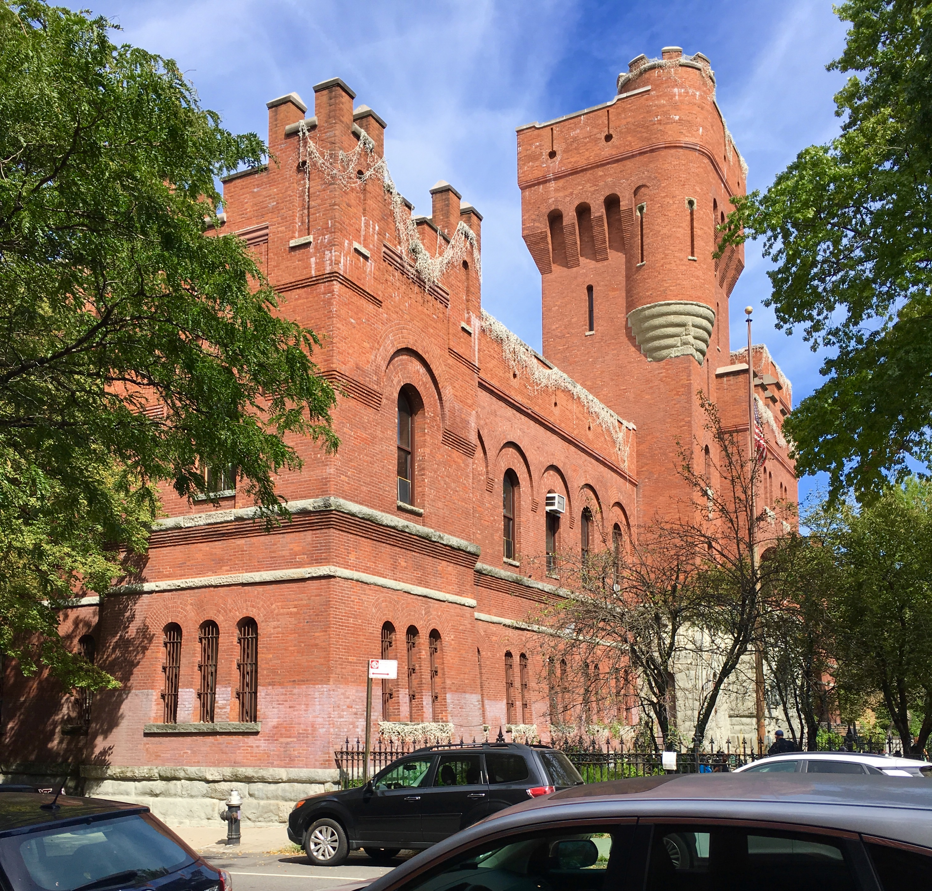 The Park Slope Armory is so big you can only photograph a small part of it at any one time. Eagle photo by Lore Croghan