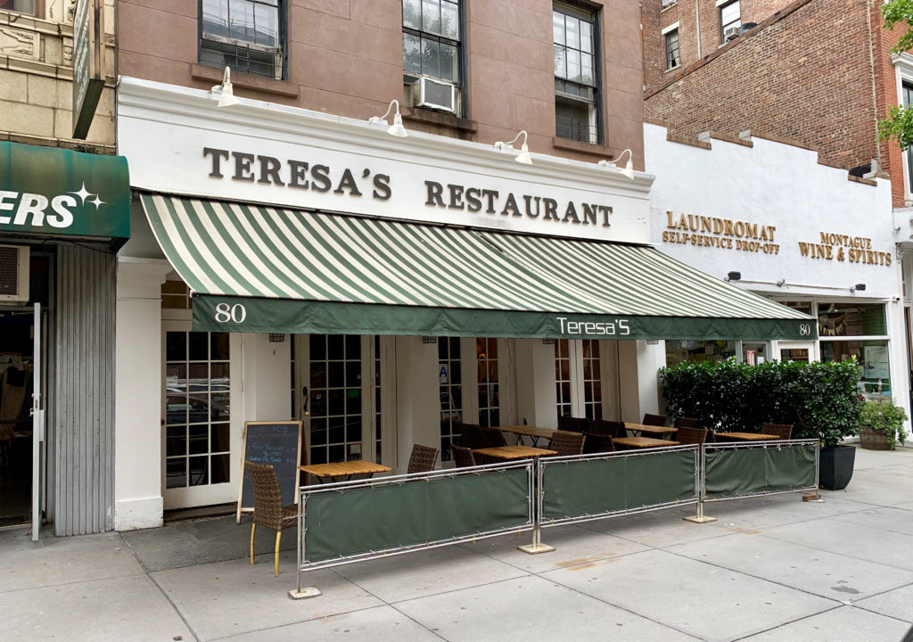 Teresa's Restaurant, at 80 Montague St. in Brooklyn Heights. Eagle photo by Mary Frost