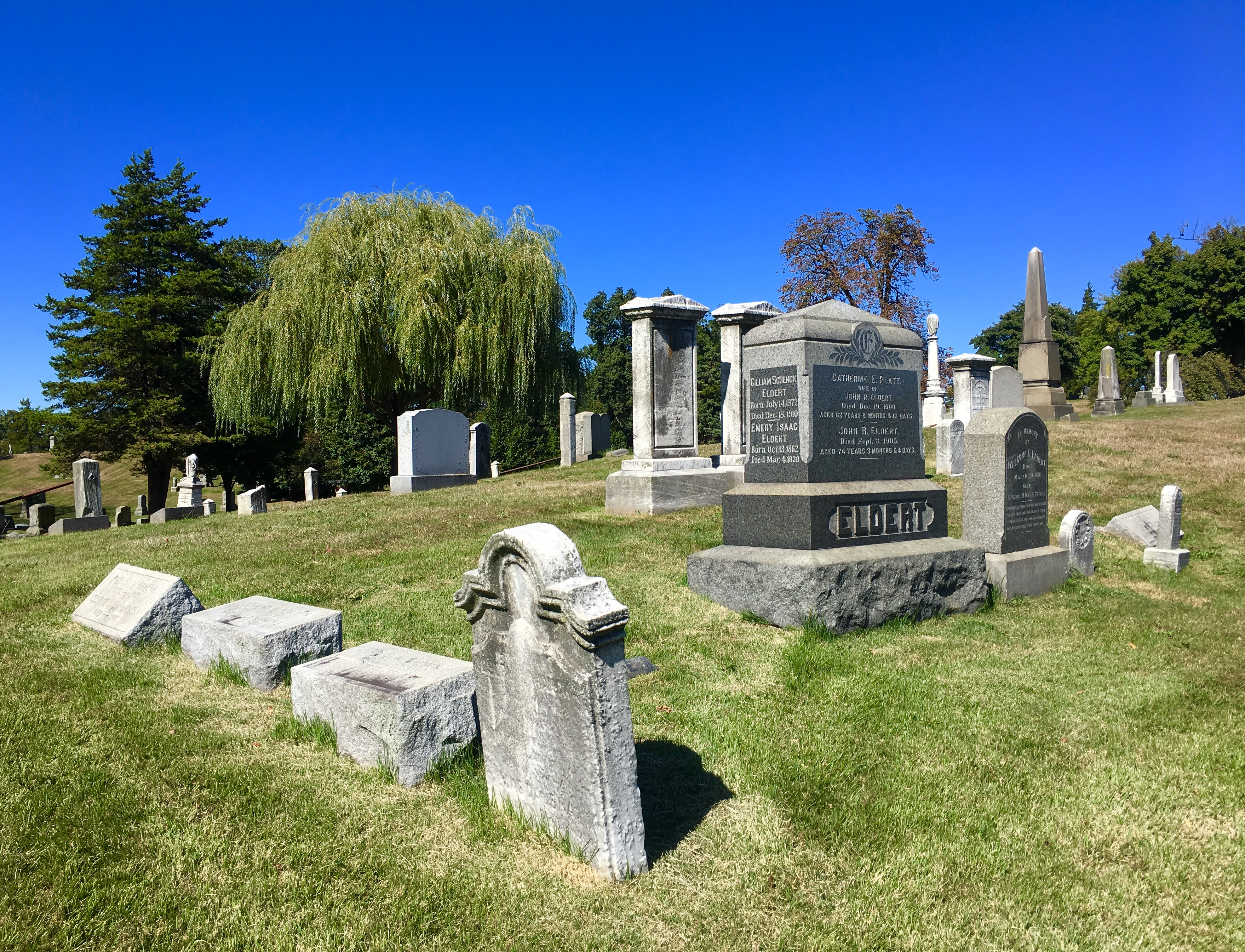 Here lies John Eldert, whose family farm was located where Atlantic Avenue and Eldert Lane can now be found. Eagle photo by Lore Croghan