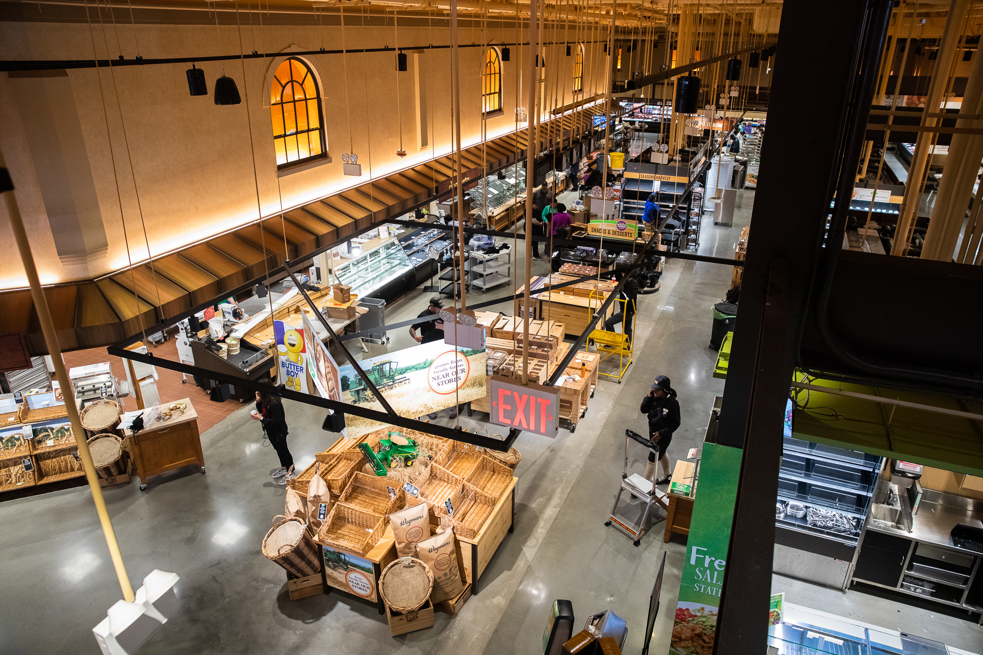 Up on the mezzanine, you get a bird's-eye view of Wegmans' layout. Eagle photo by Paul Frangipane