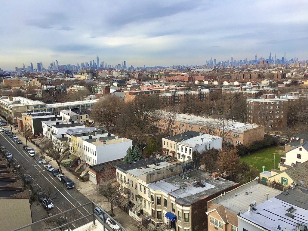 Here are the Manhattan skyline and Crown Heights as seen from Brooklyn Center. Photo: Lore Croghan/Brooklyn Eagle