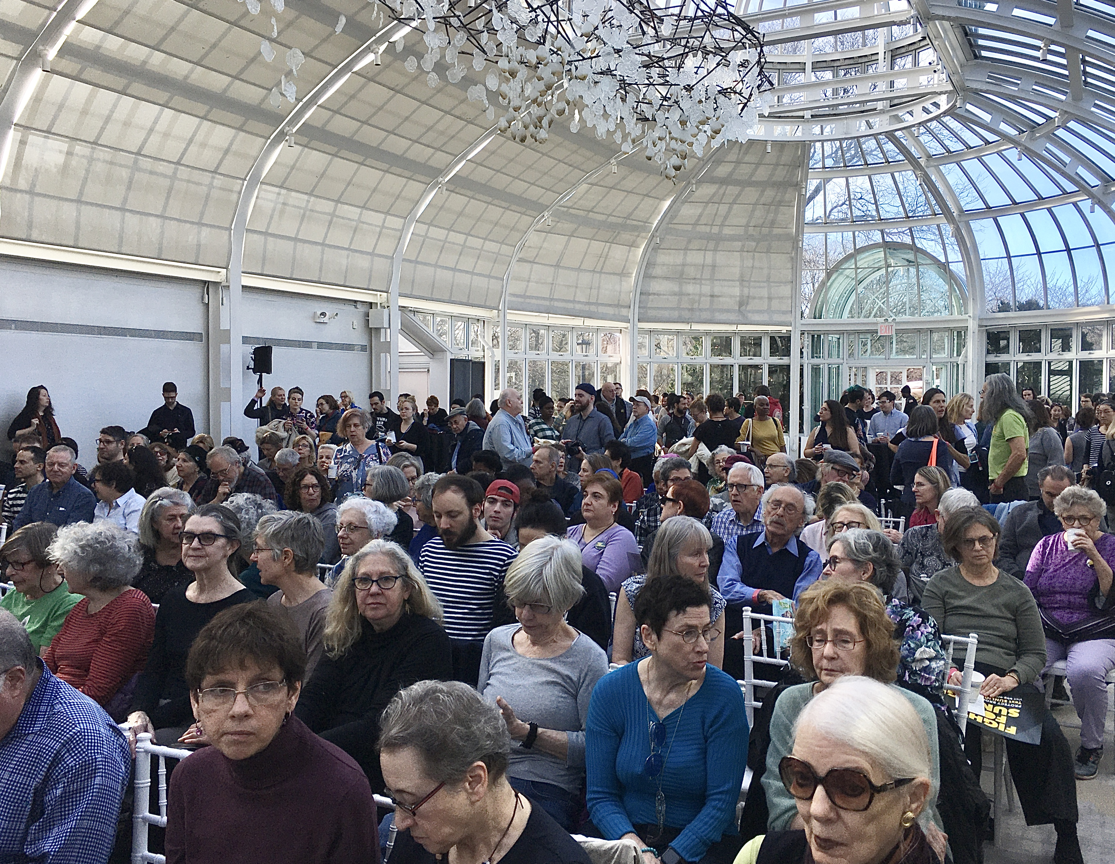 About 300 people attended Brooklyn Botanic Garden's Fight For Sunlight 2020 Kickoff. Photo: Lore Croghan/Brooklyn Eagle