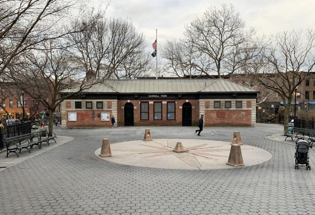 Carroll Park's Community Building. Photo: Mary Frost/Brooklyn Eagle