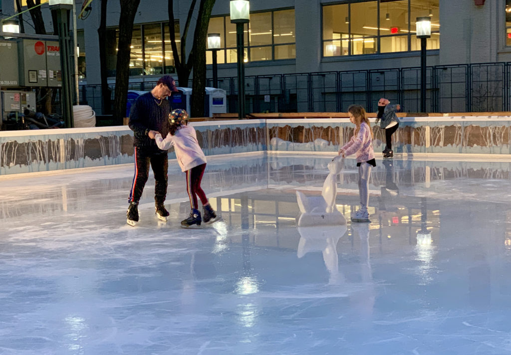 For the first time, an ice skating rink has opened in Downtown Brooklyn. Photo: Mary Frost, Brooklyn Eagle