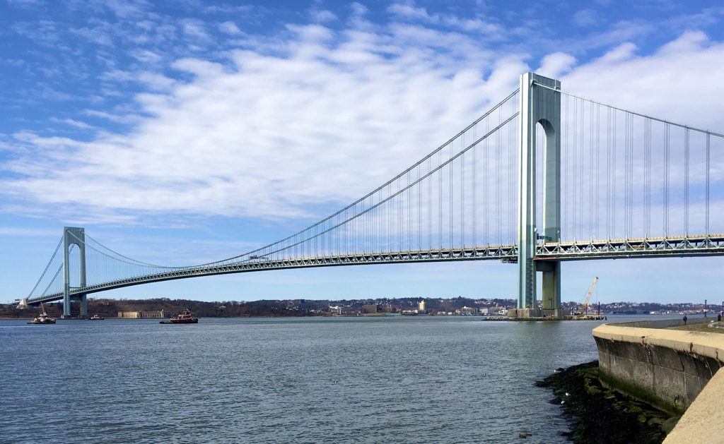 The Verrazzano-Narrows Bridge is so pretty in the March sunshine. Photo: Lore Croghan/Brooklyn Eagle